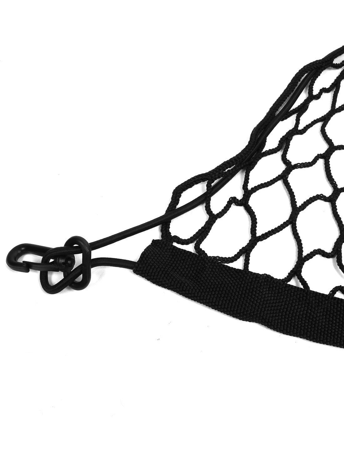 Car Trunk Black Nylon Luggage Net Holder Elastic Storage 100cm x 100cm