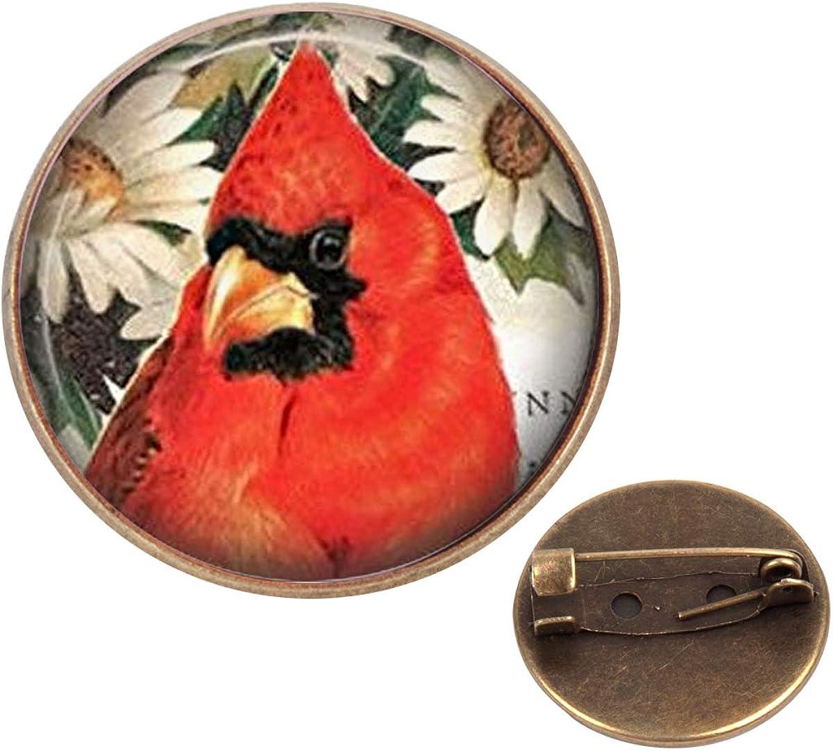 Cardinal Pin Brooch Christmas Cardinal Red Cardinal Bird,QK0O97 Red Cardinal Bird Jewelry