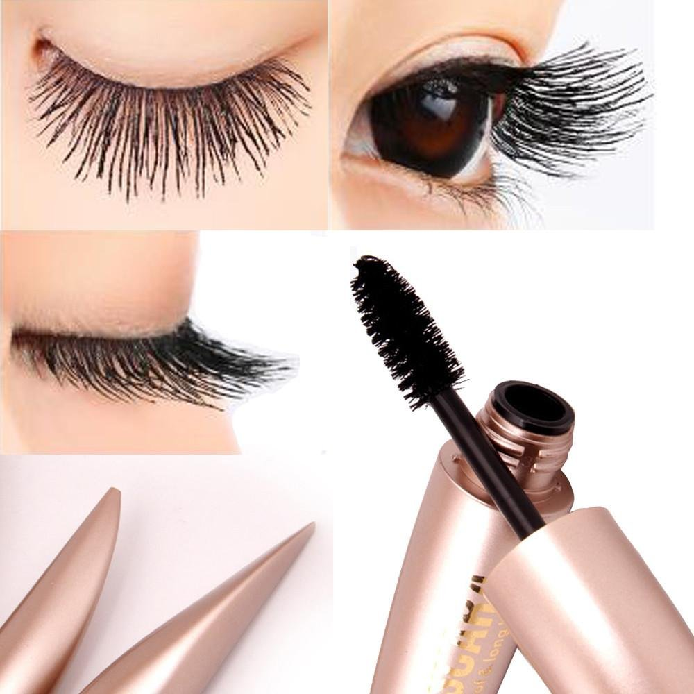 Doinshop Mascara Waterproof Black Tube Eyelash Extension Curling Big
