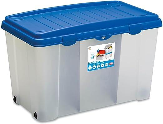 XXL Caja de plástico resistente (PP) con 120 litros de capacidad ...