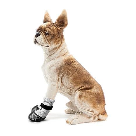 GFEU Calcetines impermeables antideslizantes para perro, suela de goma duradera, zapatos de protección contra