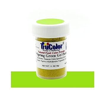 Amazon.com : TruColor Spring Green Natural Gel Paste Powder Food ...