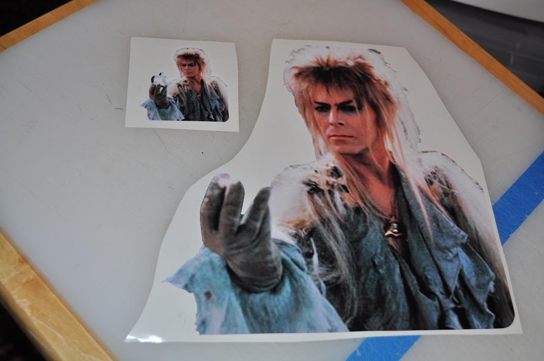 David Bowie in Labyrinth Decal for 11'' Macbook Air - glossy vinyl sticker by Stickerman (Image #2)