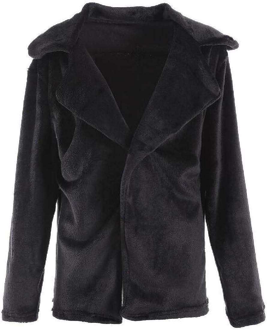 xiaohuoban Women Winter Shaggy Faux Fur Coat Long Sleeve Thick Jacket Outwear