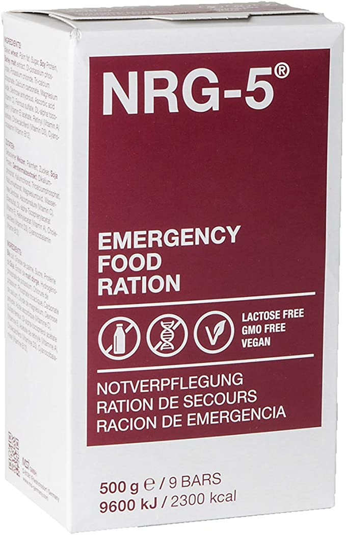 Not Catering NRG de 5 sin gluten supervivencia 500 g Outdoor Not Corporation Not Cautela Juego | 2 x 9 cerrojo supervivencia Alimentos Expeditions inicial como EPA: Amazon.es: Deportes y aire libre
