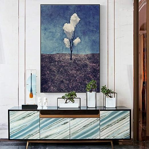RTCKF Moderno Abstracto Nube árbol de la Vida Cartel e ...