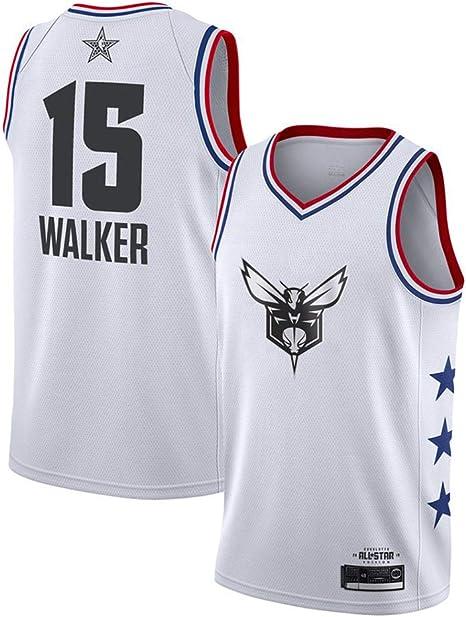 Hombre Mujer Ropa de Baloncesto NBA Charlotte Hornets 15# Walker ...