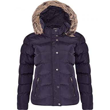 f732a99747696 Spindle Women s Designer Hooded Short Parka Jacket Quilted Padded Coat Zip  Pockets Womens S 10