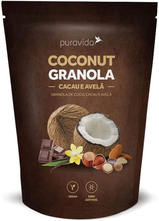 Coconut Granola Cacau e Avelã Puravida 250g por PURAVIDA