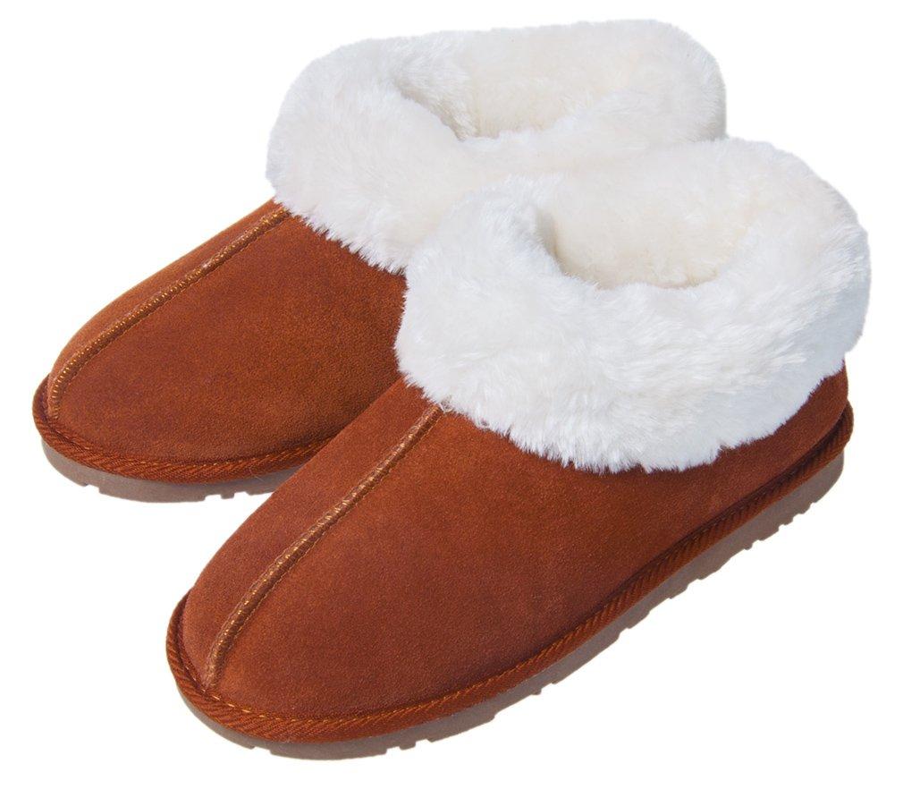 Festooning Womens Sherpa Warm Plush Lined Boots Slipper Memory Foam Anti-Slip Indoor Outdoor Br8