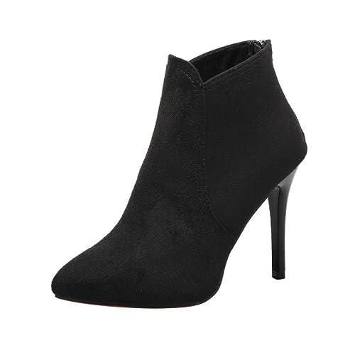 Coloré TM Chaussure Mode Bottine low boots femme Talon haut Petits 10 CM  (35, e0e82f9e84aa
