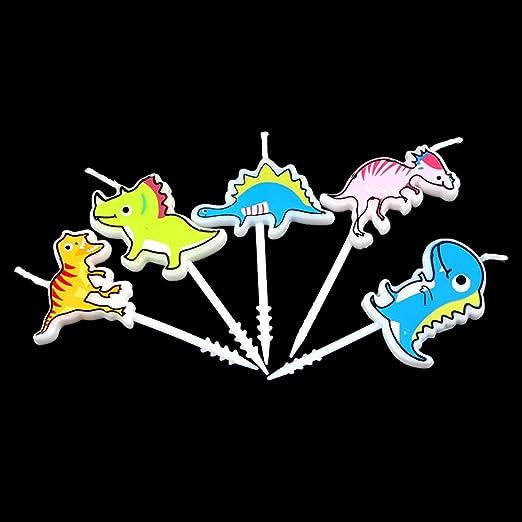Dinosaurio cumpleaños Vela de la novedad mini 5 Creative ...