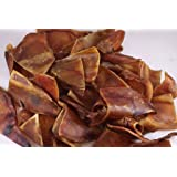 Pig Ear Small Chews Pack of 25,Sourced & Made USA, All Natural, USDA