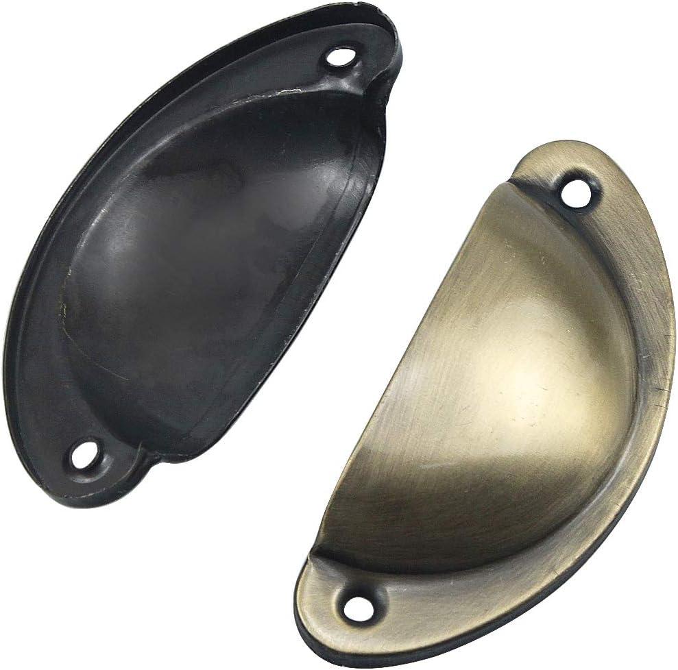 cajones y c/ómodas NATUCE 10 PCS Pomos para Armario Tirador para Puertas armarios Tirador para caj/ón Estilo Vintage con Forma de Concha Bronce