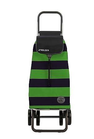 Rolser Pack Lido Logic Dos+2 - Carro de Compra Plegable de 4 Ruedas, Color Verde y Negro: Amazon.es: Hogar