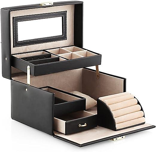 Amzdeal Caja para Joyas Caja Joyero Organizador portátil y con ...