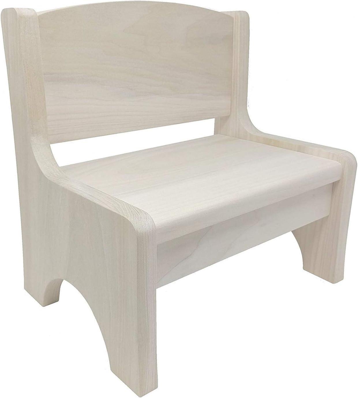 HollandCraft - Toddler Bench Chair - Hidden Wood Dowels (No Screws, Staples or Nails)
