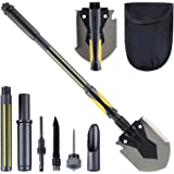 HARVET Military Portable Shovel and Pickax, 15-28 Inch Multi-Function Folding Shovel Survival Entrenching Tool with Saw…