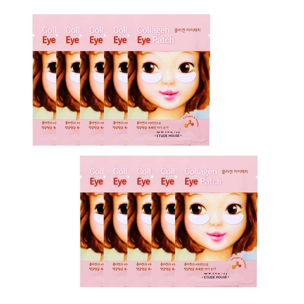 Etude House, Collagen Eye Patch, 2 Patches, 0.14 oz (pack of 4) Missha Time Revolution The First Treatment Essence (130ml)