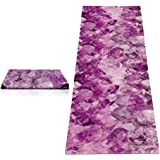 YOGA DESIGN LAB | The Travel Yoga Mat | 2-in-1 Mat+Towel | Lightweight, Foldable, Eco Luxury | Ideal for Hot Yoga, Bikram, Pilates, Barre, Sweat | 1mm Thick | Includes Carrying Strap!