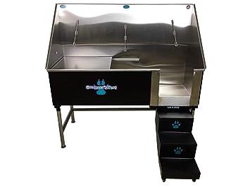 Amazon.com: Groomer la mejor Elite baño tina con izquierda ...
