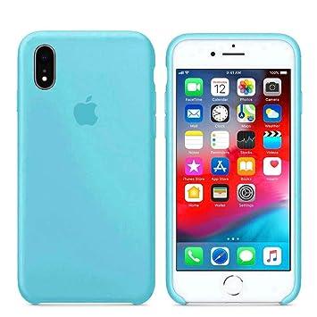 Tiendastore Funda Apple para iPhone 6 6s 7 8 X XS XR XS MAX Carcasa Protectora con Logo Original Silicona Suave Gel Protector Ultrafino Textura ...