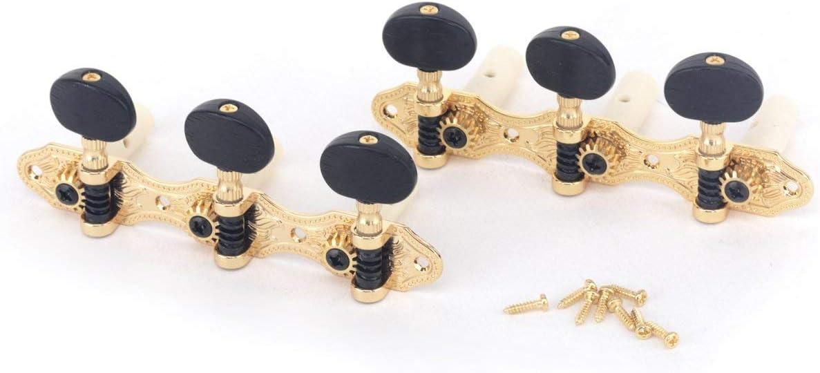 Musiclily Pro 3x3 Estilo Panadero Clavijas de Afinación Clavijero de Repuesto para Guitarra Clásica, Oro