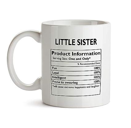 Amazoncom Little Sister Gift Mug Aa29 Nutrition Nutritional