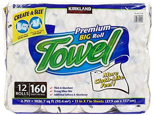 Kirkland Signature Premium Big Roll Paper Towels 12 Roll  160 Sheets Per Roll
