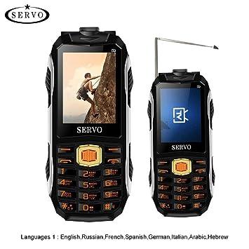 gaeruite SERVO MAX Celular 2.44 Pulgadas Banda cuádruple 3 Tarjetas SIM Teléfono, 4000 MAH Soporte