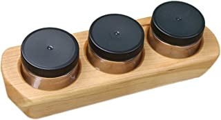 product image for Camden Rose Cherry Wood Three Jar Paint Holder