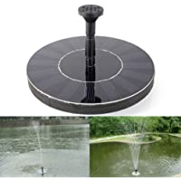 Topdeal 6.5 Inch Outdoor Solar Powered Water Floating Pump Fountain, Garden Pond Fountain Set, Free Standing Garden 1.4W Solar Panel Kit Water Pump