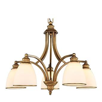 LVYI Kronleuchter Eisen Deckenleuchte Retro Klassisch Landhausstil Lampen Iron Lampe Lampenschirm Weiss Antik Vintage Leuchter Wohnzimmerlampe