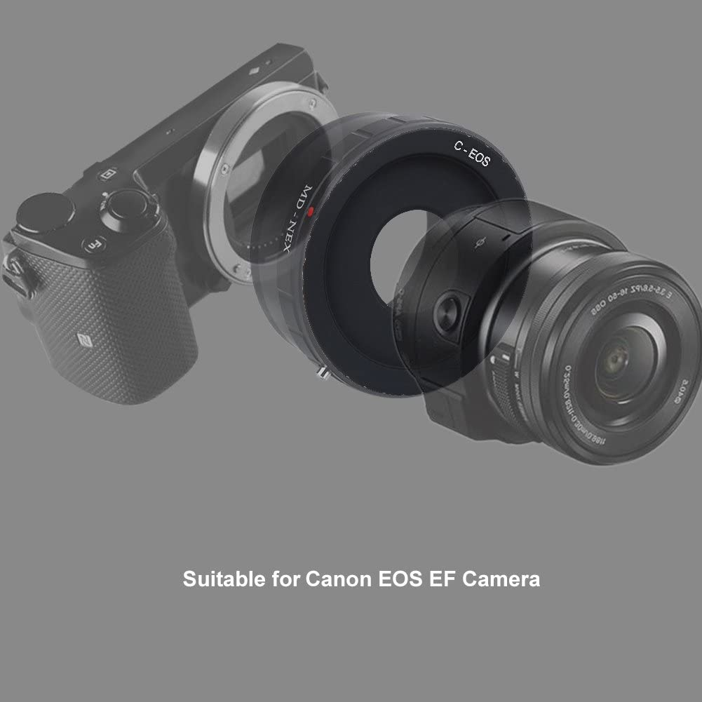 Manual Lens Adapter Ring,Manual Focus//Aperture,Infinite Focus Lens Converter Adapter C Mount Screw Mounting Lens Adapter Ring for Canon EOS//EF Mount DSLR Camera