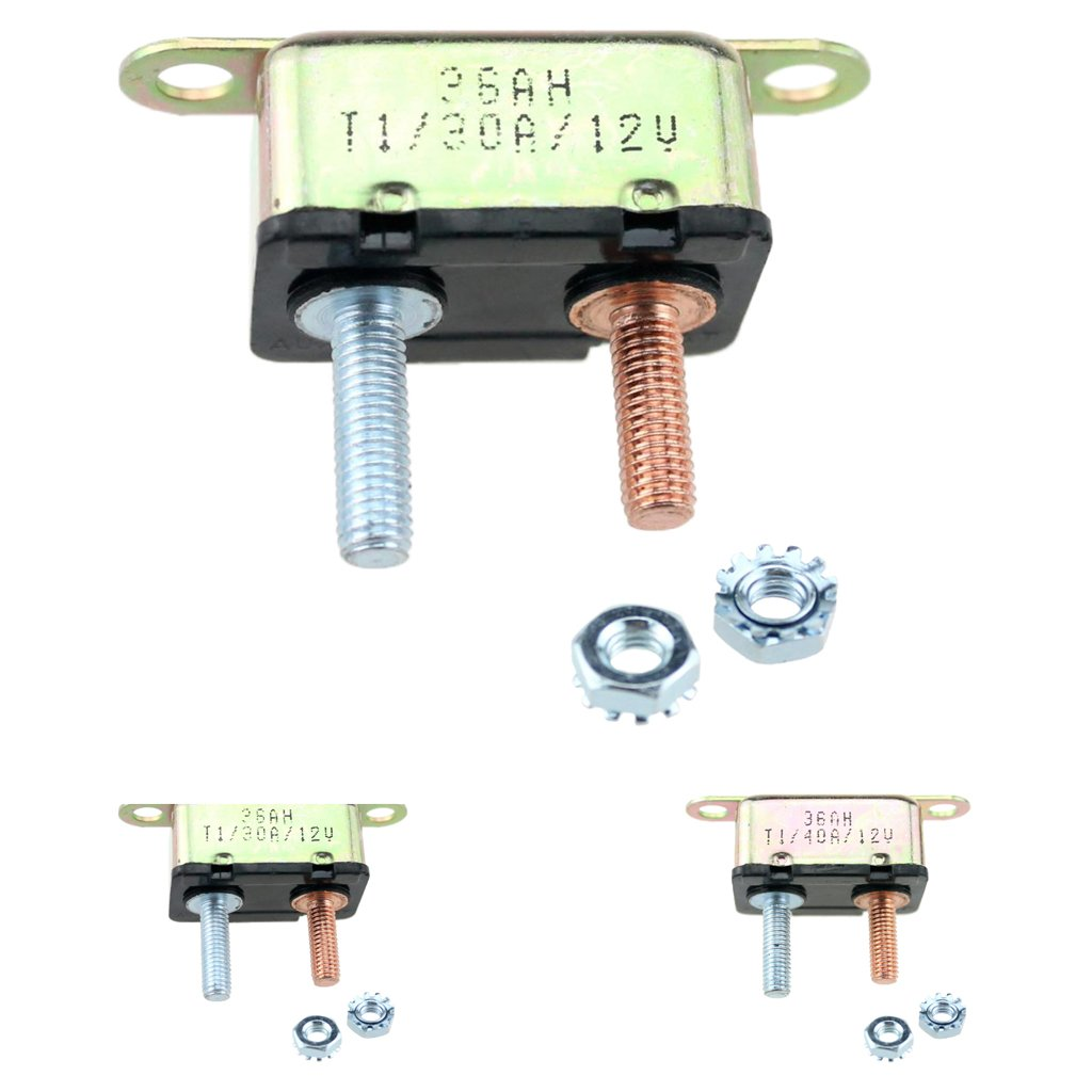 Monkeyjack Automotive 30amp Metal Auto Reset Circuit Details About 12v Dc Car Audio Breaker Fuse 30 Amp 30a For Rv Boat