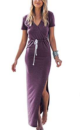 0f51cd1aeb Twippo Women Sexy Cute Long Dress Maxi Summer Beach Casual Dresses ...