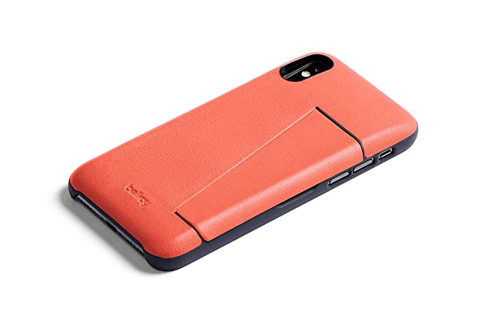 new arrival 9173f ad1e2 Bellroy Leather iPhone X Phone Case - 3 Card - Coral