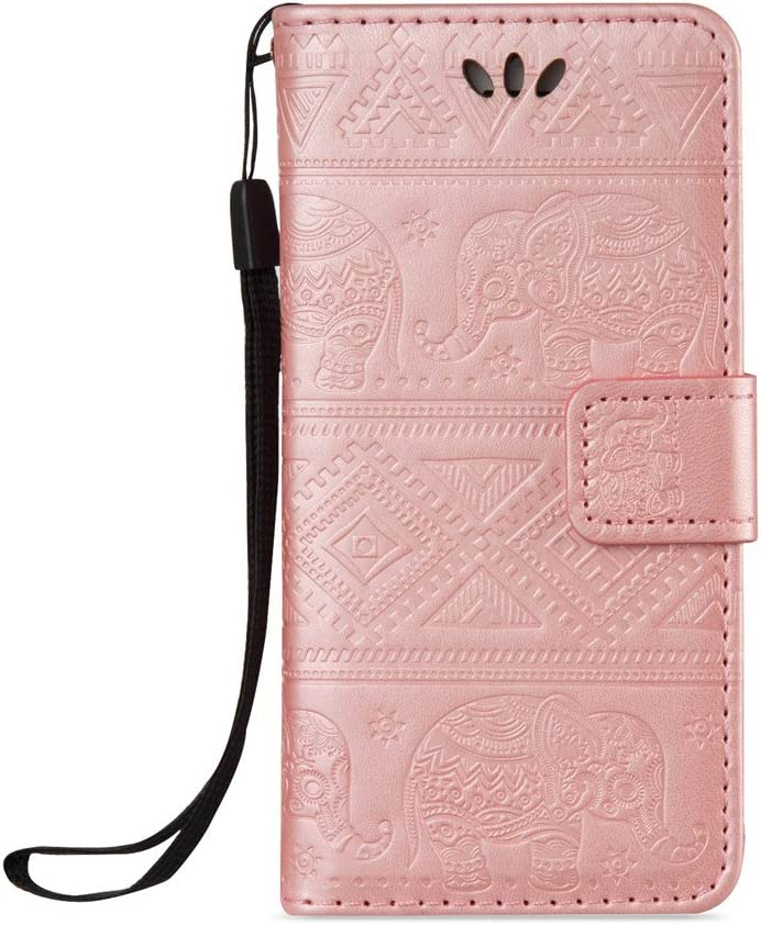 3D Butterflies in The Wall iPhone 5S Case,iPhone SE Case,iPhone 5 Wallet Case,LEECOCO Fancy 3D Print Floral Wallet Case with Card Slots Slim PU Leather Flip Stand Case Cover for iPhone 5 SE 5S