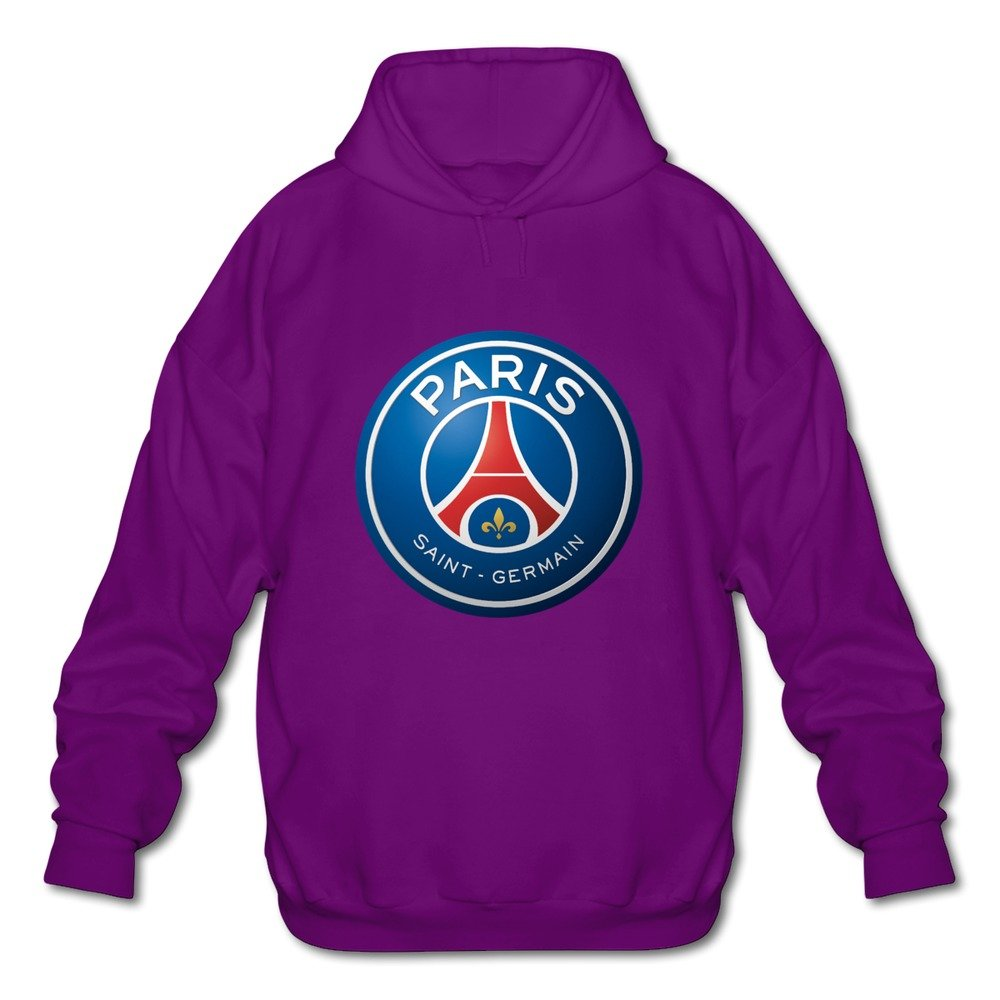 Mens Paris Saint Germain FC Long-Sleeve Hoodies Sweatshirt Ash Latest By Rahk