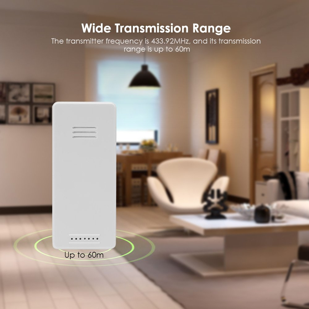 iLifeSmart TS - C01 Remote Wireless Digital Indoor Outdoor Thermometer (White)
