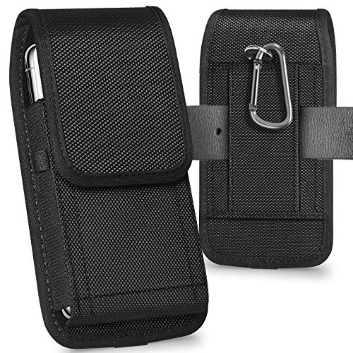 ykooe Cell Phone Pouch Nylon Holster Case with Belt Clip Cover Compatible with iPhone 12/Pro/Mini, 11, Pro, Max, SE2 7 8…