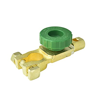 Car Boat Van Battery Isolator Switch Brass Power Cut Off Disconnect Terminal UK