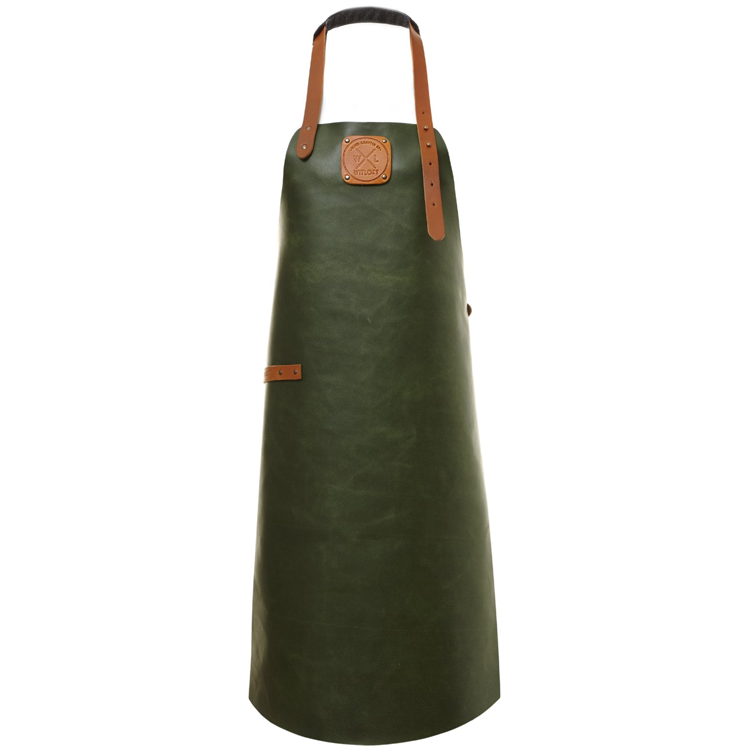 Witloft Leather Apron - Green/Cognac