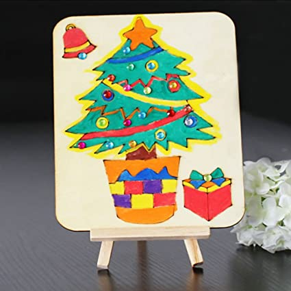 Amazon Com Aixia Kids Wooden Art Easel Stand Drawing Board Shelf