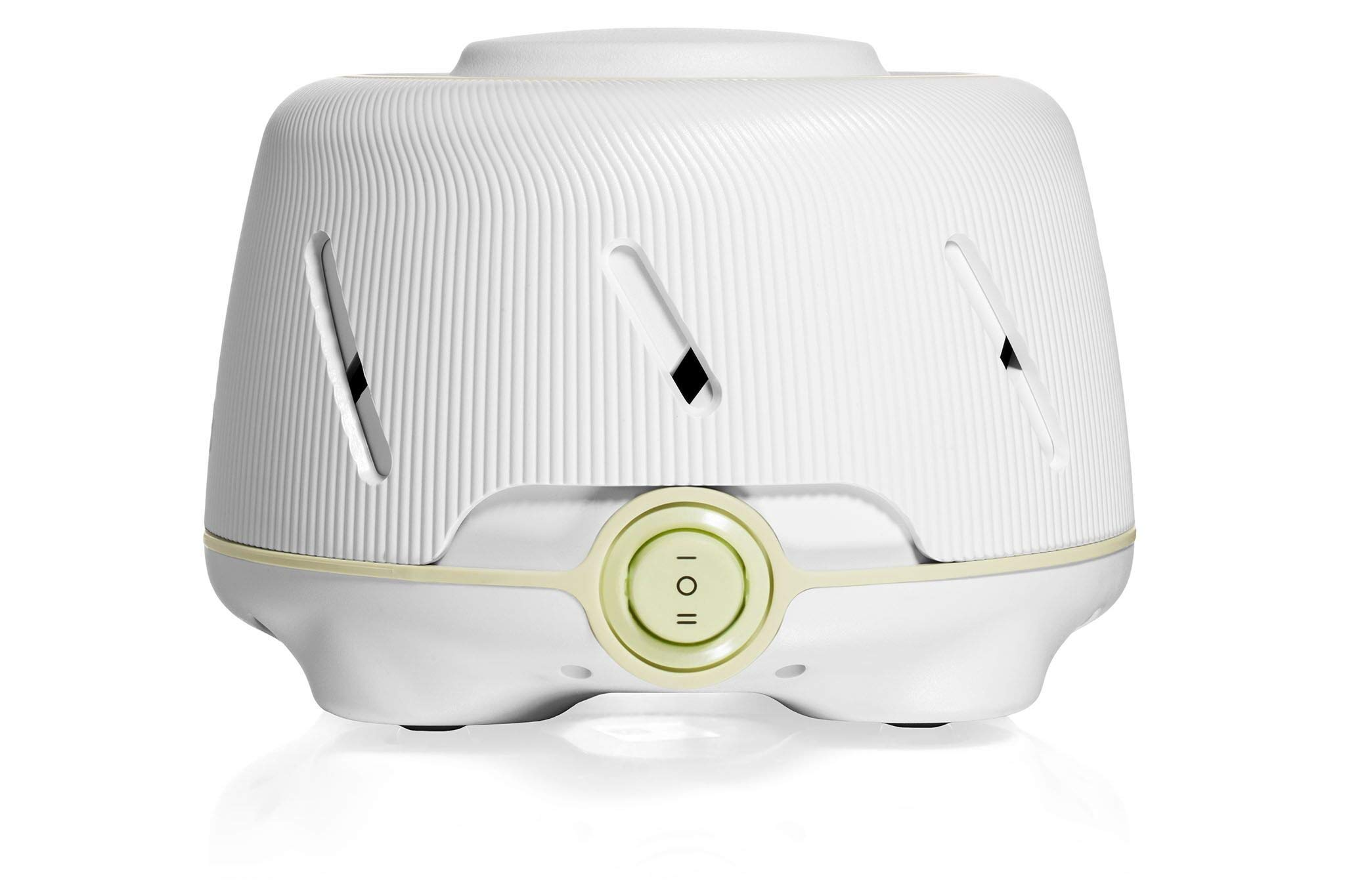 Marpac Dohm (White/Green) | The Original White Noise Machine | Soothing Natural Sound from a Real Fan | Noise Cancelling | Sleep Therapy, Office Privacy, Travel | For Adults & Baby | 101 Night Trial by Marpac
