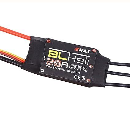 Amazon com: powerday EMAX BLHELI 20A ESC 2-4S Speed