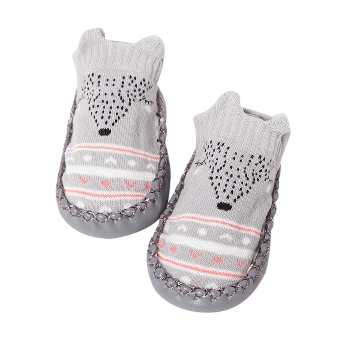 Muium Toddler Infant Cartoon Shoes Baby Boy Girls Anti-Slip Socks Slipper Boots for 6-24 Months