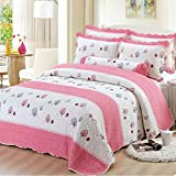 Young17 100% Cotton Quilt Cover for Children's Quilted Bedspread 150 x 200Cm Washable Bedding Cover