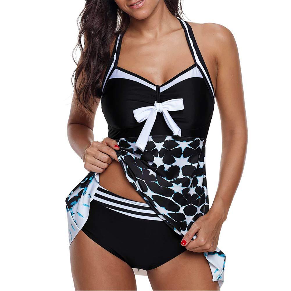 Neckholder Bikini Streifen /& Brosche Strand Bademode Beachwear Swimwear Größe