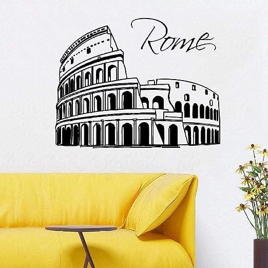 zqyjhkou Ciudad de Roma Tatuajes de Pared extraíble Skyline ...